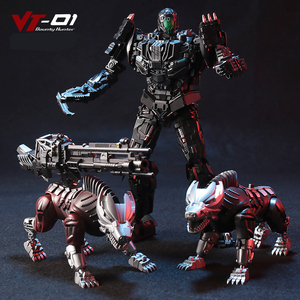 Image 2 - Transformation Lockdown VT 01 VT01 Steeljaw Alloy Metal KO Action Figure Robot VISUAL Toy With Two Dogs Deformation Toys Gifts