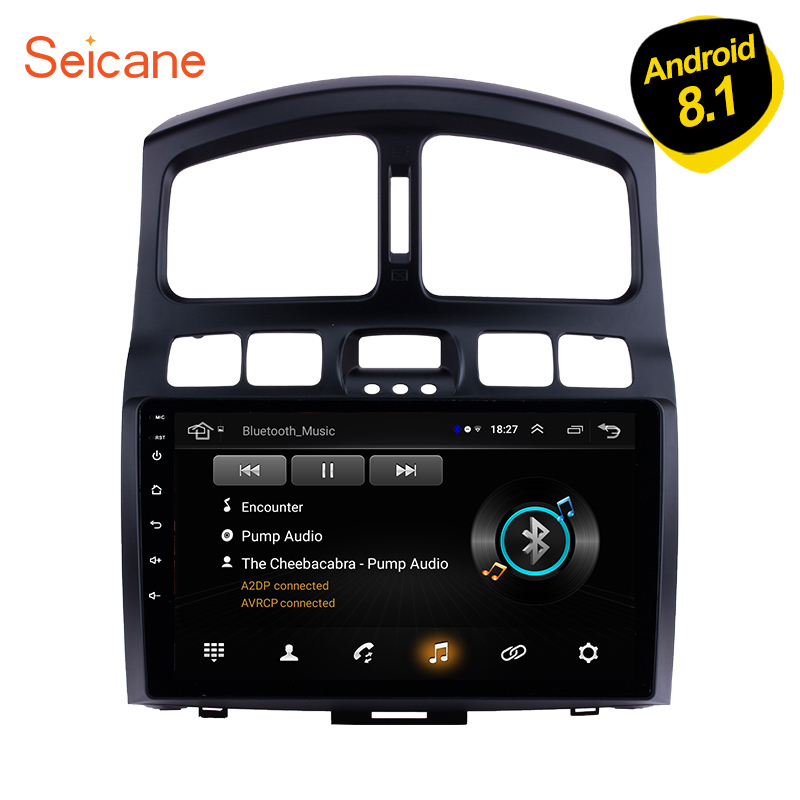 Seicane Android 8.1 Car Multimedia player GPS Navigation For 2005 2006 2007-2015 Hyundai Classic Santa Fe HD 1024*600 Head Unit image