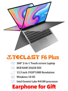 Teclast Intel N4100 Notebook Laptop SSD Touch-Screen 360 Lpddr4-256gb Plus IPS Windows-10