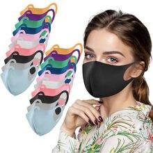 Máscara sólida mascarilla mascarar 20 pces adulto para cuidados com a pele reutilizável lavável pm2.5 protetores faciais máscaras de carbono masque mondkapjes