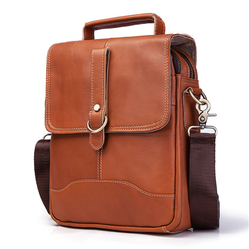 Bag men's Genuine Leather briefcase Male man laptop bag natural Leather for men Messenger bags men's briefcases Shoulder bags