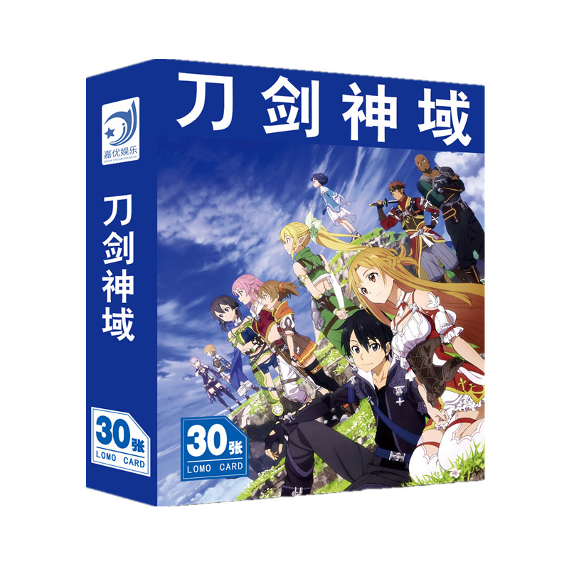 30 Sheets/Set Anime Sword Art Online Lomo Card Cartoon Characters Postcard Greeting Card Message Card