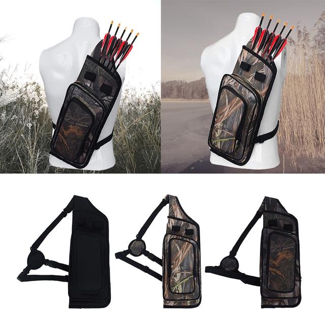 Arrow Quiver Adjustable Archery Bag Hunting Back Arrow Quiver Tube with Back Strap Archery Arrow Case Holder