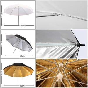 Image 2 - Fotografia softbox kit de iluminação com 2.6x3m suporte de fundo 3 pçs foto backdrops tripé guarda chuva para estúdio foto