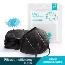 10-100 шт Черный KN95 Mascarillas многоразовые FFP2 уход за кожей лица маска против пыли FP2 рот маски фильтр Безопасность защитный KN95 маски