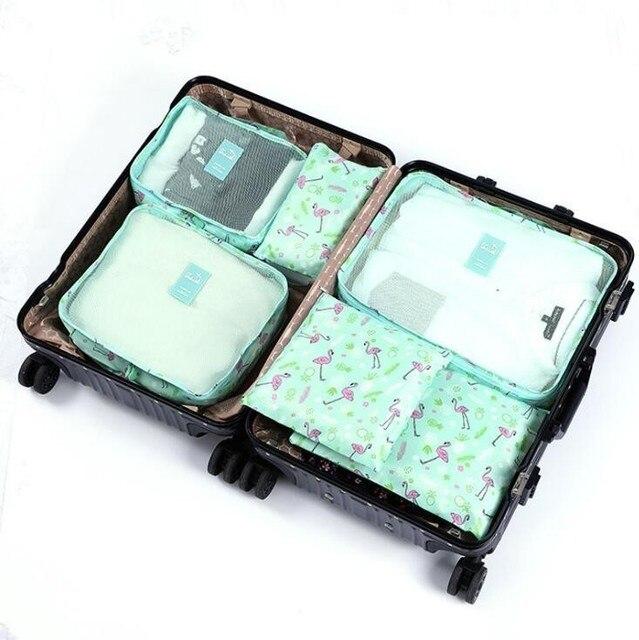 Ensemble de 6 Voyage Sacs de rangement demballage cubes V/êtements multi-fonctionnels Tri paquets gris Emballage Cubes Voyage Bagages Organisateurs imperm/éables