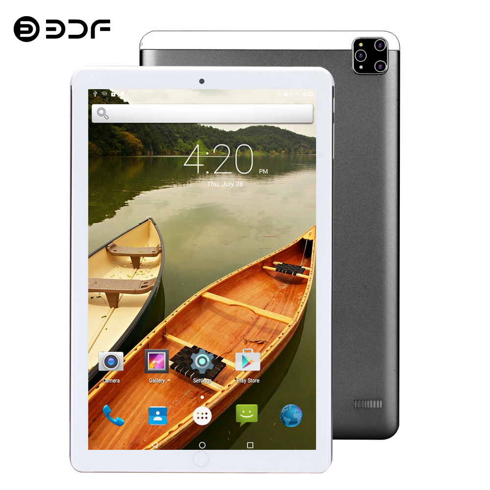 2020 New Tablet Pc 10.1 Inch Android 7.0 Google Play 3G Phone Call Tablets WiFi Bluetooth GPS 2.5D Tempered Glass 10 Inch Tablet