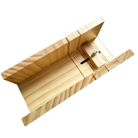 Handmade Diy Soap Cutting Tool  Rubber Wood Adjustable Soap Cutting Device  Simple Soap Making Fixed Support Supplies|Soap Making Kits|   -