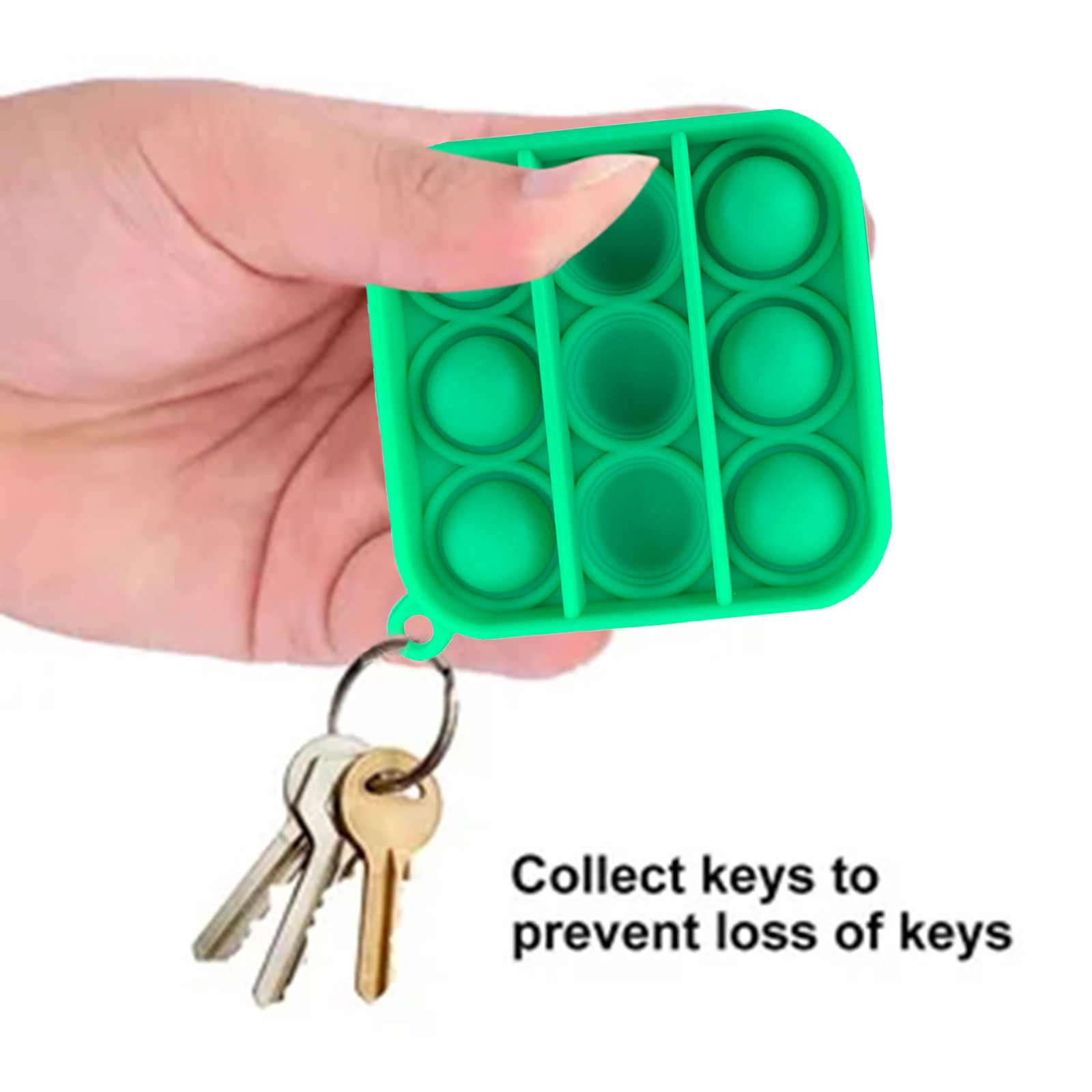 Keychain Toy Fidget-Toys Relief-Toy Pops It Push Bubble Antistress Sensory Simple Dimple img2