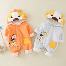 Детский комбинезон для новорожденных теплый плотный с мультяшным