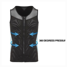 Shapewear Body Slim Underwear Shaper Men Waist Tummy Control Slimming Suits Neoprene Sweat Vest for Weight Loss Summer