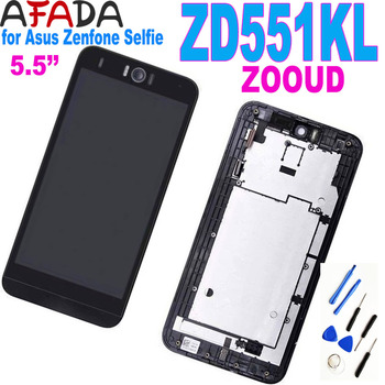 5.5'' LCD for Asus Zenfone Selfie ZD551KL ZOOUD LCD Display Touch Screen Digitizer Assembly with Frame weida for asus zenfone 2 laser ze500kl z00ed lcd display touch screen digitizer assembly 5 0 inch with frame tool