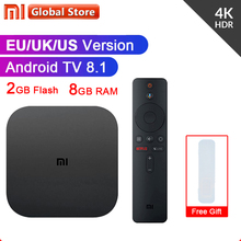 Original Xiao mi mi TV Box 3 Smart 4K Ultra HD 2G 8G Android 8.0 Film WiFi Google cast Netflix Red Bull Media Player Set-top Box