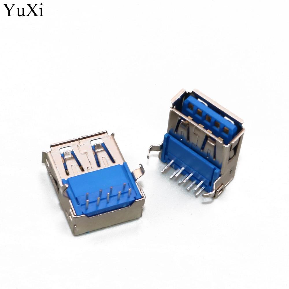 YuXi USB 3.0 3 USB Jack Connector Port Socket Buchse Einbaubuchse For DELL PC Laptop 9pin