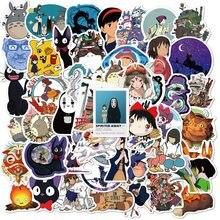 10/50 pçs miyazaki hayao anime adesivos em movimento castelo spirited afastado dos desenhos animados adesivos para bicicleta portátil livro bagagem crianças brinquedos