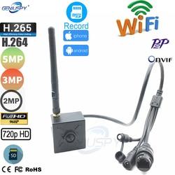 5MP 2mp 3MP Mini bezprzewodowa kamera wifi IP gniazdo kart sd P2P Onvif CCTV otwór zawleczki kamera IP bezpieczeństwo dla przemysłu domowego nadzór