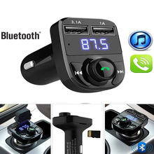 цена на Car Kit Handsfree Wireless Bluetooth FM Transmitter LCD MP3 Player USB Charger 2.1A Car Accessories Handsfree