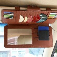 27 bolsillos visera parasol organizador para manga titular Clips CD de coche DVD titular 10 disco caja de almacenamiento accesorios de coche doble capa