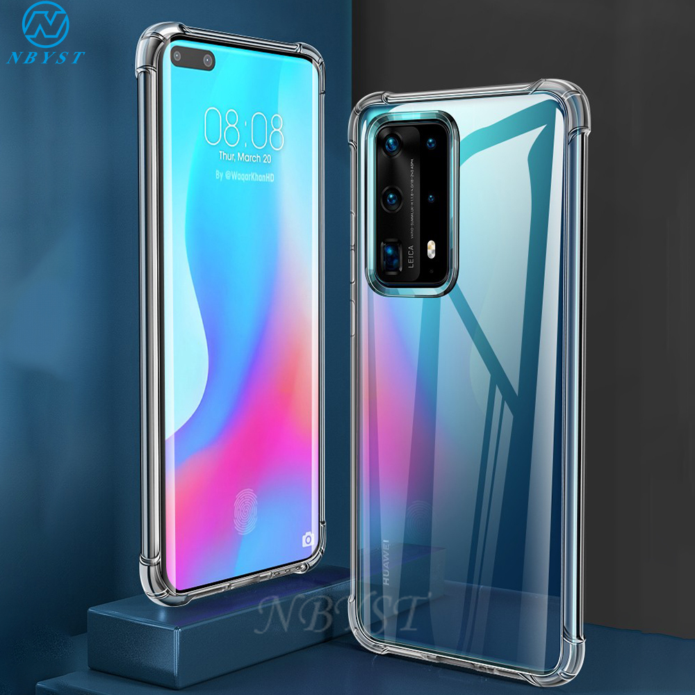 Soft Shockproof Case For Huawei P40 Pro Plus 5G P20 P30 P40 Lite P Smart Pro 2019 Clear Cover for Honor 30S 30 Pro 20E 20S 8A(China)