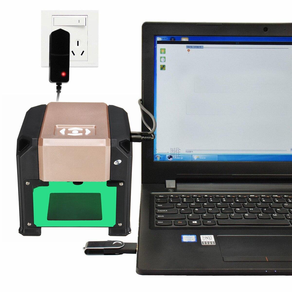3000mW USB High Speed Laser Engraver Machine DIY Logos Mark Printer Cutter CNC Laser Carving Machine Engraving Tools
