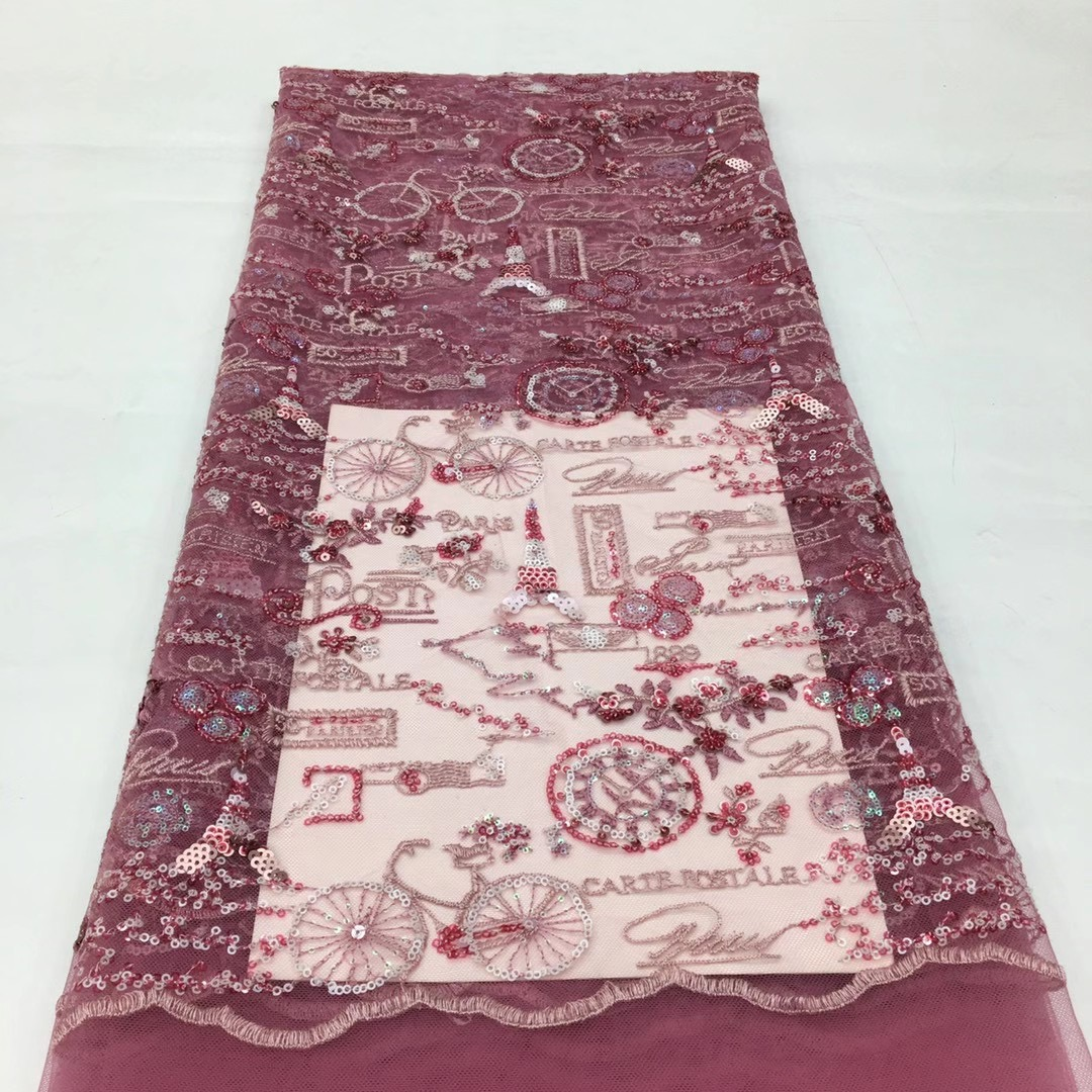 lantejoulas nigéria africano malha renda tecido macio