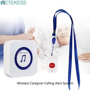 Image 1 - Retekess TH001 Беспроводная система оповещения о вызове медсестры кнопка SOS + приемник TH002 для пациента пожилого ухода дома