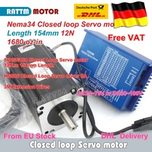 цена на DE free VAT Nema34 L-154mm Closed Loop Servo Motor 6A Closed Loop 12N.m & HSS86 Hybrid 8A Step servo Driver CNC Controller Kit
