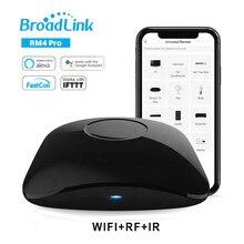 Broadlink rm4 pro 2020 novo wifi ir rf controle remoto inteligente, alexa eco google casa controle de voz para casa inteligente