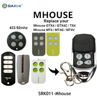 Multifunctional Mhouse gate control garage door opener MHOUSE remote garage rolling code 433.92mhz remote control