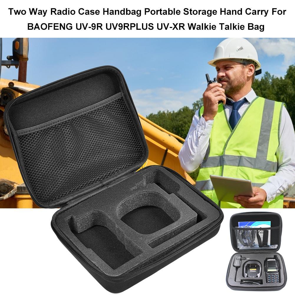 Protective Case For Walkie-talkie Handbag Zipper Camouflage Storage Bags For Baofeng UV-9R UV82 UV-9R UV9RPLUS Two Way Radios
