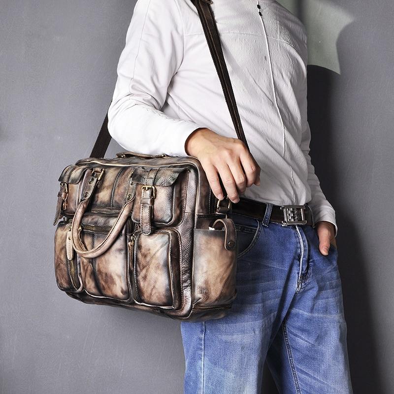 H148acddd6594420d95c46a8247f3db4aj Original leather Men Fashion Handbag Business Briefcase Commercia Document Laptop Case Design Male Attache Portfolio Bag 3061-bu