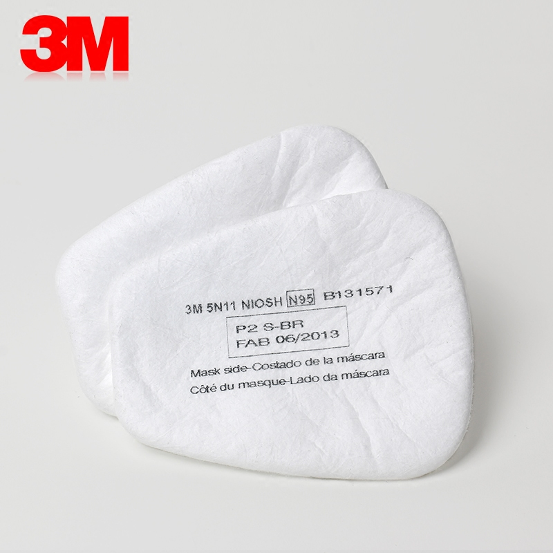 Image 2 - 10pcs 3M 5N11 Filter Cotton Gas Mask Respirator Replace Fitting Suit 3M 6000 7000 Series Dust Mask Paint Spraying Face WorkChemical Respirators   -