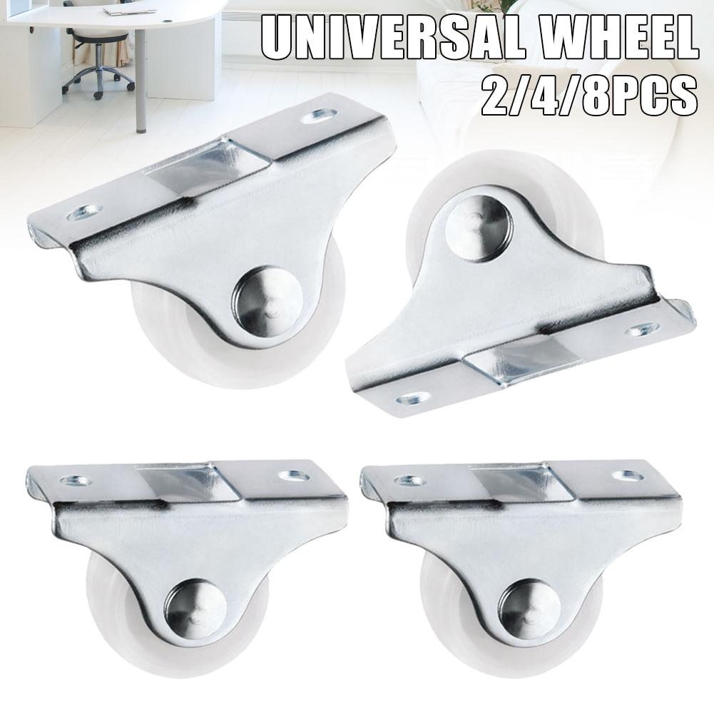 Белые направляющие фиксированные ролики, маленькие 1-сторонние колесные мебельные пластиковые направляющие износостойкие колеса J99Store