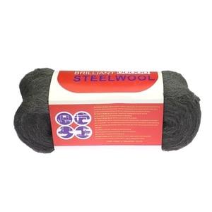 Image 4 - 1 Stuk 180*70*70 Mm 4 5M 100 130G Metal Fibre Staaldraad wol Hand Slijpen Polijsten Cleaning Pad 4 #0000 # Voor Fotografie