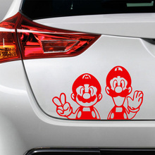 Pegatinas divertidas de Super Mario URSS graciosas pegatinas coloridas de coche calcomanías para automóviles