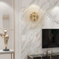 Nordic creative fashion wall clock wall free punch mute clock light luxury simple 60cm wall clock living room home clocks
