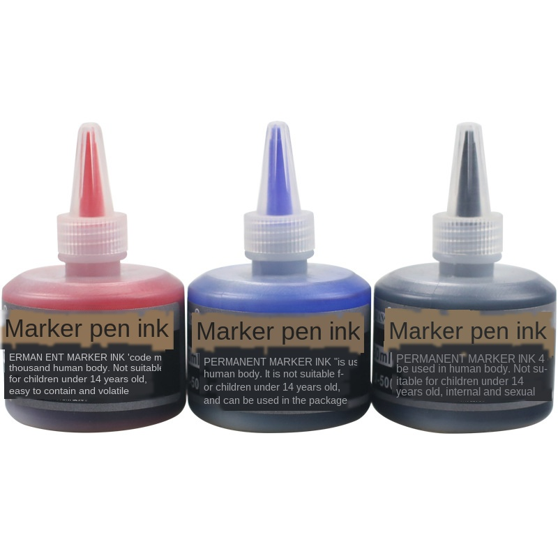 New Arrival 50ml Permanent Instantly Dry Graffiti Black Blue Red Oil Marker Pen Refill Ink For Marker Pens