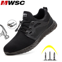 MWSC Boots Light-Weight Work-Shoes Safety Sneakers Construction Steel-Toe Plus-Size