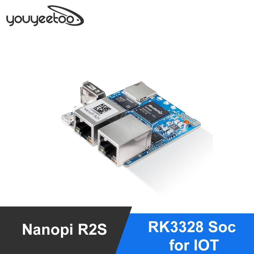 Портативный мини-роутер FriendlyElec Nanopi R2S OpenWRT с двумя портами Ethernet 1 ГБ DDR4 на базе RK3328 Soc для IOT