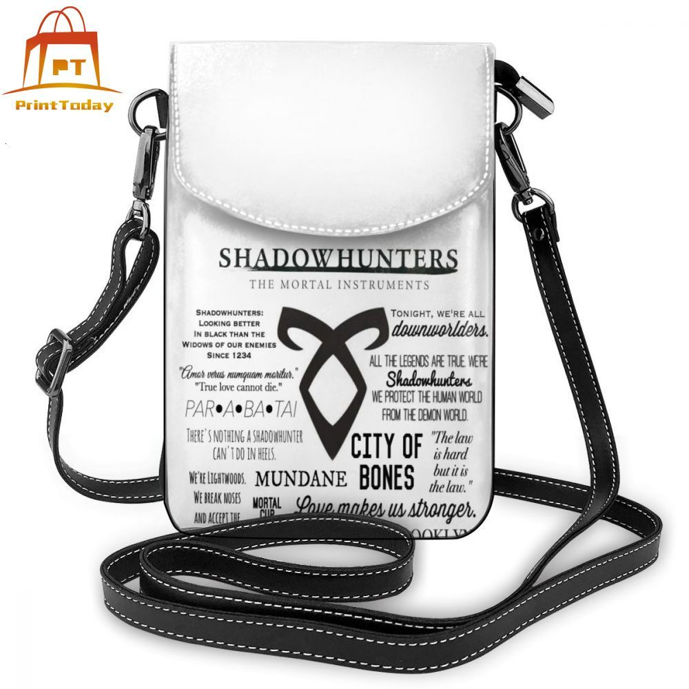 Shadowhunters Shoulder Bag Shadowhunters Leather Bag Print Multi Purpose Women Bags Trend High Quality Purse