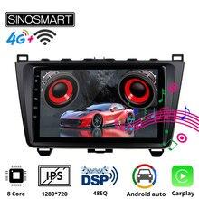 SINOSMART Auto GPS Navigation-Player für Mazda 6 Unterstützung BOSE Soundsport Freies Audio 8 core CPU, DSP Unterstützung 4G LTE 2008-12