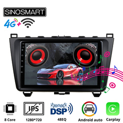 SINOSMART Car GPS Navigation Player for Mazda 6 Support BOSE Soundsport Free Audio 8 core CPU, DSP Support 4G LTE 2008-12
