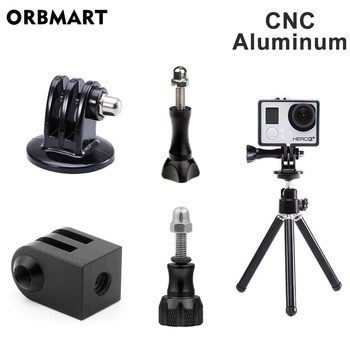 Aluminum Tripod Mount Adapter Monopod Adaptor for GoPro Hero 8 Black 7 6 5 Xiaomi Yi 4K SJCAM Action Camera Go Pro Accessories handheld extendable pole mini pocket tripod for gopro hero 7 insta360 one x xiaomi yi 4k eken sjcam action camera