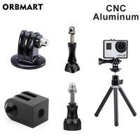 Aluminium Stativ Mount Adapter Einbeinstativ Adapter für GoPro Hero 8 Schwarz 7 6 5 Xiaomi Yi 4K SJCAM Action kamera Gehen Pro Zubehör