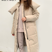 Parkas Women WOTWOY Long Jackets Padded Coat Oversized Cotton-Liner Thick Winter Fit