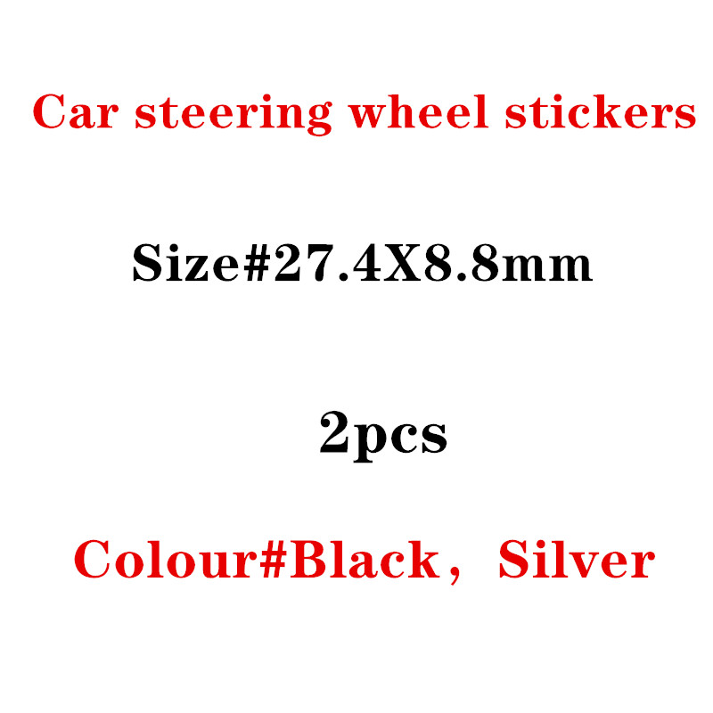2X Steering Wheel Sticker 3D Aluminium Alloy Steering Wheel Badge Emblem 3D Car Sticker For Audi Sline S-line RS