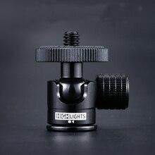 Camera Mini Tripod Ballheads Điều Chỉnh 360 Độ Điện Thoại Đầu Bóng Ảnh Ốc Vít 1/4 Máy Chiếu Ballheads Selfie Stick