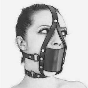 Bola de la boca de silicona BDSM, ataduras de Bondage de cuero PU, mordaza para la boca abierta, arnés para la cabeza, máscara de Fetiche con fijación Oral, juego para adultos