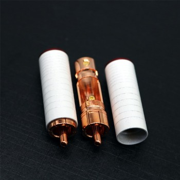 XSSH audio GF-RED05R gift box packing HIFI DIY red pure copper Audio Video RCA Plug Connector Jack