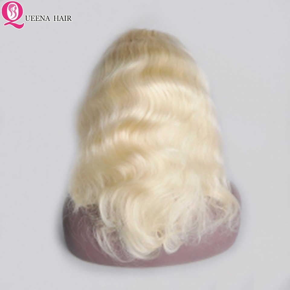 Perruque Bob Lace Front Wig Remy naturelle ombré   Cheveux courts, Body Wave, pre-plucked, blond 613, 13x4, 150% de densité, perruque pour femmes